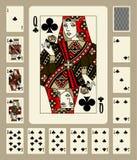 Les clubs adaptent à jouer des cartes illustration de vecteur