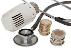 Les coûts énergetiques sauvegardent Photo libre de droits