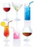 les cocktails ont placé Image libre de droits