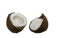 Les Cocos cassés image libre de droits
