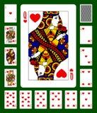 Les coeurs adaptent à jouer des cartes Photos libres de droits