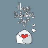Les coeurs décollent de l'intérieur de l'enveloppe ouverte Photo libre de droits
