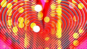 Les coeurs de couleur palpitent sur le fond de clignotement banque de vidéos