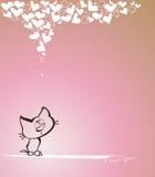 Les coeurs de Kitty Images libres de droits