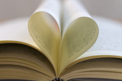 Les coeurs de papier sont sur les livres Images stock