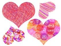 les coeurs de retrait décrivent le valentine de s illustration de vecteur