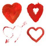 Les coeurs de Valentine Photos libres de droits