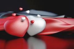 Les coeurs de Valentine Images libres de droits
