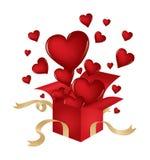 Les coeurs de Valentine Photos stock