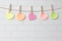 Les coeurs de Valentine Photographie stock libre de droits