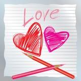 Les coeurs de Valentine Image libre de droits