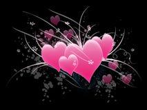 Les coeurs de Valentine Photo libre de droits