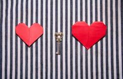 les coeurs introduisent deux Photographie stock libre de droits