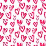 Les coeurs modèlent les icônes rouges pour l'art de Saint Valentin Photos stock