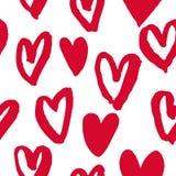 Les coeurs modèlent les icônes rouges pour l'art de Saint Valentin Photo stock