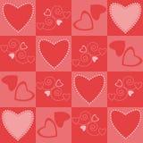 Les coeurs modèlent sans joint Photo libre de droits