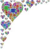 Les coeurs ont coloré Image stock