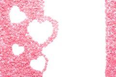 Les coeurs roses ont fait des bonbons avec l'espace vide pour le texte photographie stock libre de droits
