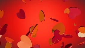 Les coeurs rouges et d'or pour vous - aimez, le jour de valentine Photo libre de droits