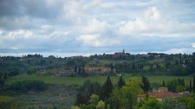 Les collines du chianti au sud de Florence image stock