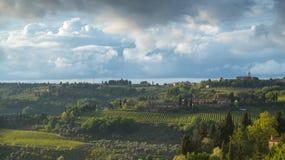Les collines du chianti au sud de Florence image libre de droits