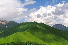 Les collines vertes Photographie stock libre de droits