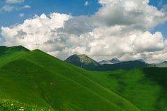 Les collines vertes Image libre de droits