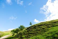 Les collines vertes près de la rivière ont plongé dans le parc national de secteur maximal Images libres de droits