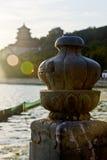 Les colonnes de PalaceStone d'été Photographie stock