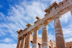 Les colonnes du parthenon Photographie stock