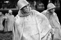 Les combattants de Guerre de Corée commémoratifs à Washington D C Photographie stock