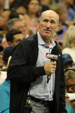 Les commentaires de Brad Gilbert d'analyste d'ESPN s'assortissent à l'US Open 2016 chez Billie Jean King National Tennis Center N photo stock