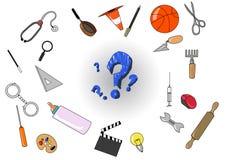 Les commerces de Differents illustration stock