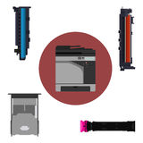 Les composants de l'imprimante Image stock
