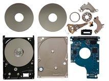 Les composants de lecteur de disque dur ont isolé photographie stock libre de droits