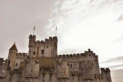 Les comptes (gravensteen) à Gand est la forteresse médiévale de seule survie en Flandre photos stock