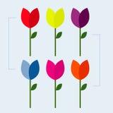 Les conceptions de fleur de vecteur Dirigez les icônes, la Saint-Valentin, le mariage et le mariage Conception d'illustration de  Image libre de droits