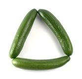 les concombres ont effectué la triangle Images libres de droits