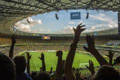 Les confédérations mettent en forme de tasse 2013 - le Brésil X Uruguay - mineurs Photographie stock libre de droits
