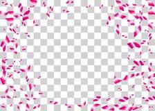 Les confettis déjouent le fond transparent Photo libre de droits