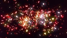 Les confettis de coeur indiquent 4K illustration libre de droits