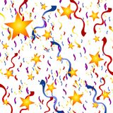 Les confettis Stars le fond de réveillon de la Saint Sylvestre Image stock
