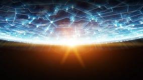 Les connexions système et les échanges de données sur terre 3D de planète rendent Photo stock
