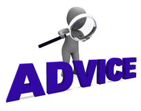 Les conseils Councel de moyens de caractère de conseil recommandent ou suggèrent illustration stock