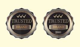Les consommateurs votés ont fait confiance à la conception de logo d'emblème de marque Photo stock