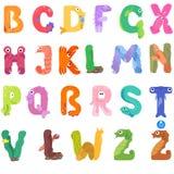 Les consonnes de l'alphabet latin aiment des habitants de mer illustration stock