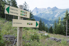 Les Contamines sign Royalty Free Stock Photos