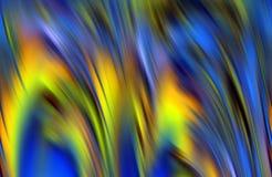 Les contrastes brouillés, bleu espiègle argenté lissent le fond de vagues, fond abstrait Images stock