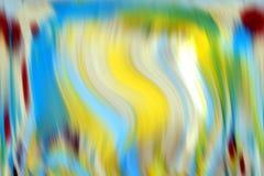 Les contrastes brouillés, bleu espiègle coloré lissent le fond de vagues, fond abstrait Images stock