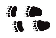 Les copies et les voies de pied animal d'isolement fait un pas des traces sur le blanc pour le vecteur de conception de l'avant-p Photographie stock
